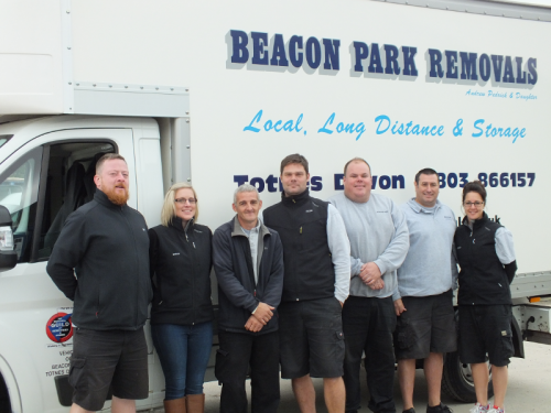 Beacon Park Removals crew, lined up and ready to go