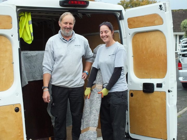 Andy and Leanne at Beacon Park Removals